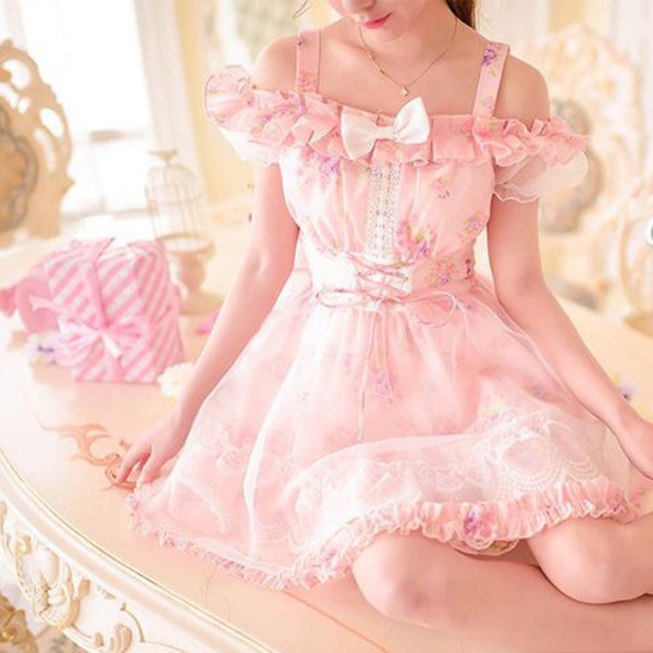 Dress Cute Pink Pastel Nymphette Fairy Hipster