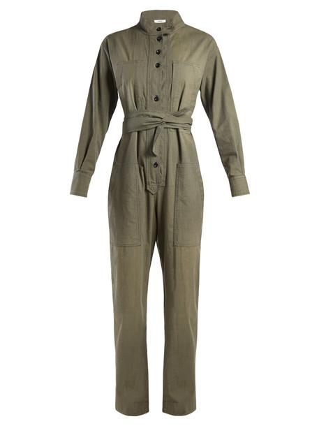 jumpsuit cotton khaki