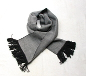 scarf,twill scarf,hand woven,charcoal and grey,black and white