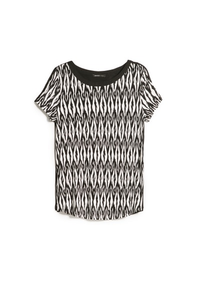 monochrome print t-shirt