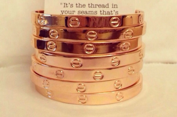 jewels bling jewelry bracelets stacked bracelets rose gold