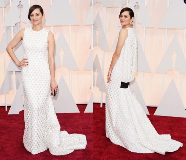 dress oscars 2015 gown marion cotillard red carpet dress