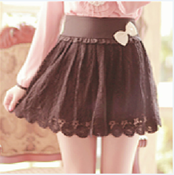 skirt brown skirt lace