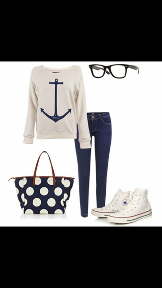 anchor jeans bleu