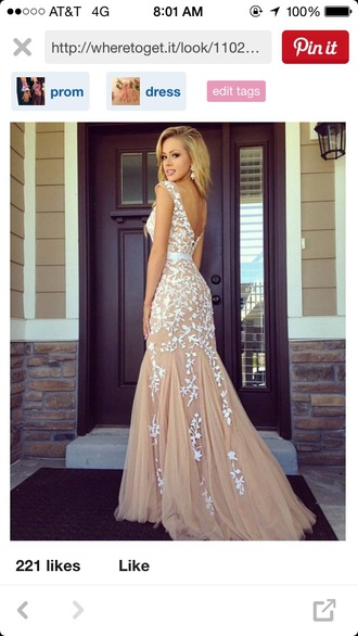 dress sherri hill mermaid prom dress nude