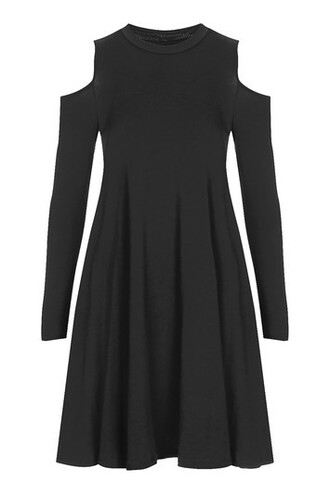 dress swing dress cold black