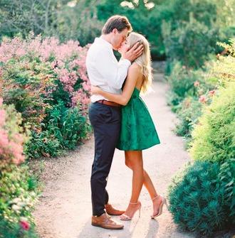 dress heels green formal