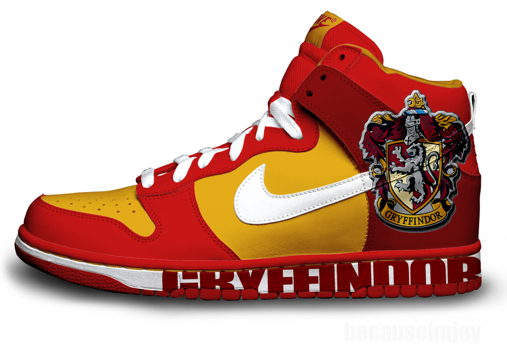 Gryffindor Nike Dunks by becauseimjay on deviantART