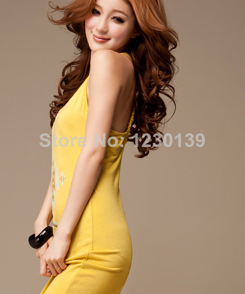 2014 Sexy Women Bohemian Cotton Long Slim Floral Boho Summer Beach Dress | Amazing Shoes UK