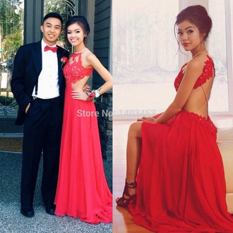 dress vivian vo farmer red lace dress backless prom dress long prom dress prom dress sexy slit evening dress