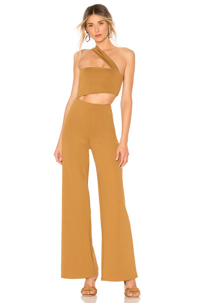 House of Harlow 1960 x REVOLVE Fabien Jumpsuit in chocolate