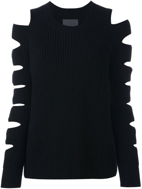 Zoe Jordan pullover women black wool sweater