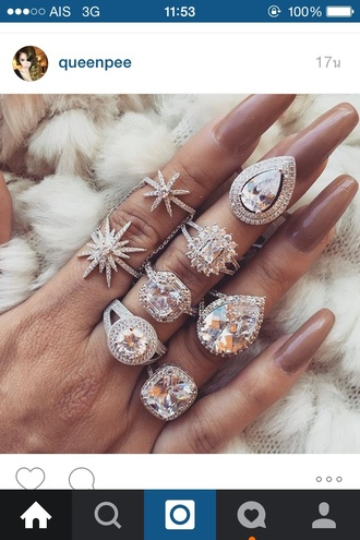nail accessories diamonds ring heart diamond rings luxury pink nude nail polish nails nail art jewels jewelry girly girl beautiful fashion long nail hand jewelry every brunette needs a blonde best friend brown silver silver ring bling