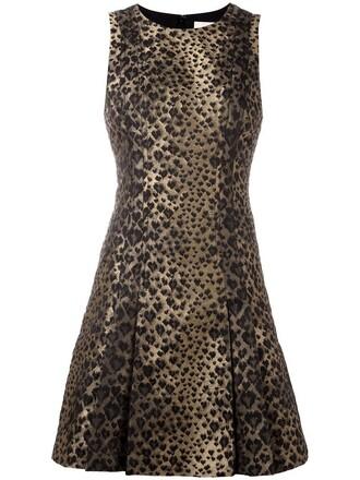 dress women spandex nude print leopard print