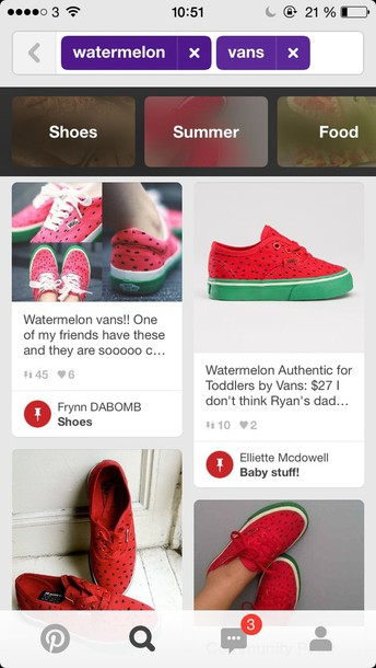 shoes cute vans vans watermelon print red green