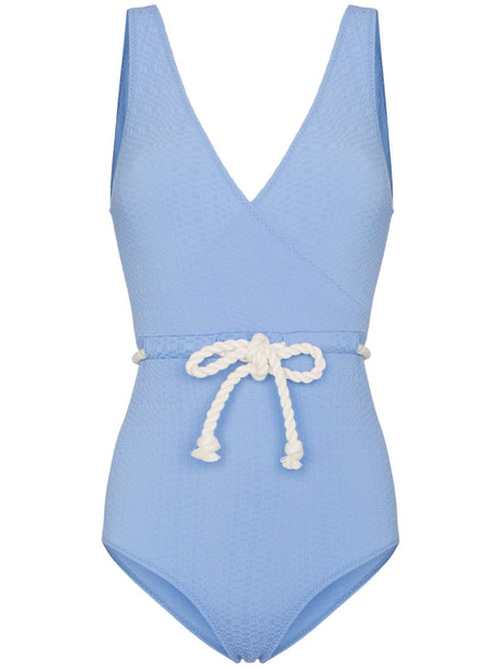 Lisa Marie Fernandez women spandex belt blue