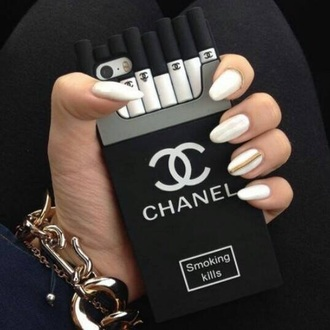 phone cover black and white chanel phone case