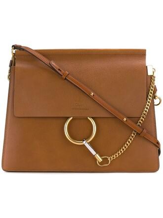 women bag shoulder bag leather suede brown