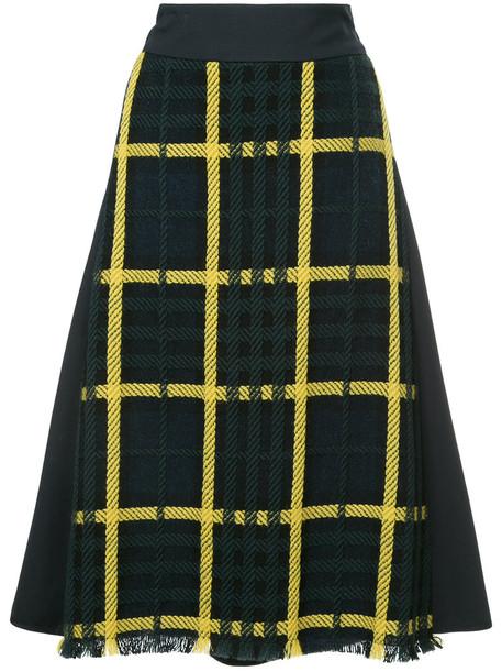 skirt tartan skirt women blue wool tartan