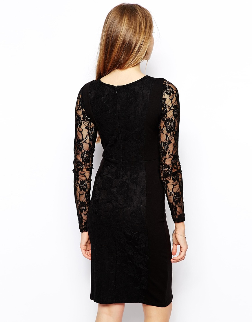 Vila Sammo Lace Dress at asos.com