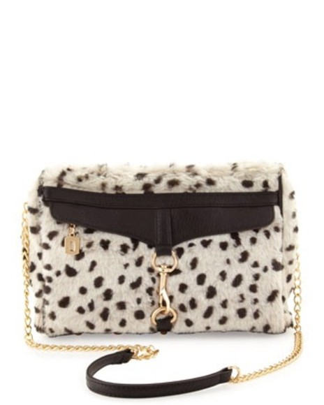 fur bag bag white dress white polka dots clutch fur