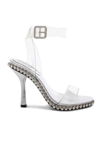 heel metallic silver shoes