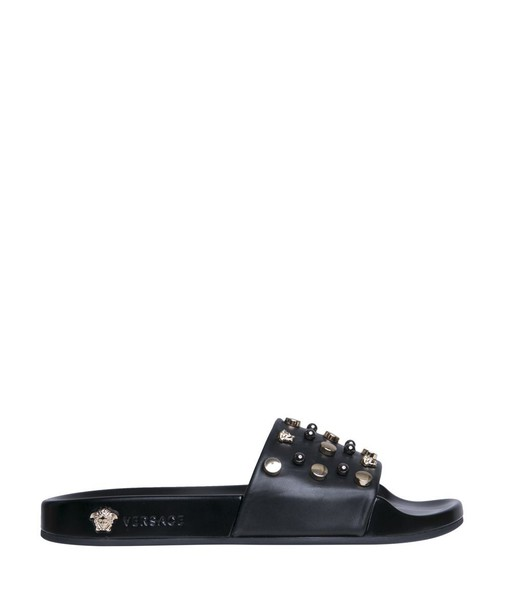 VERSACE studded leather shoes