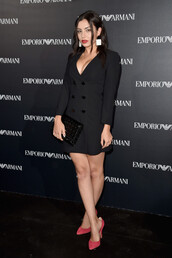 dress,blazer dress,charli xcx,paris fashion week 2016,pumps,mini dress