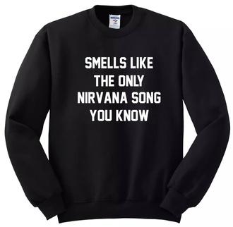nirvana band merch sweater