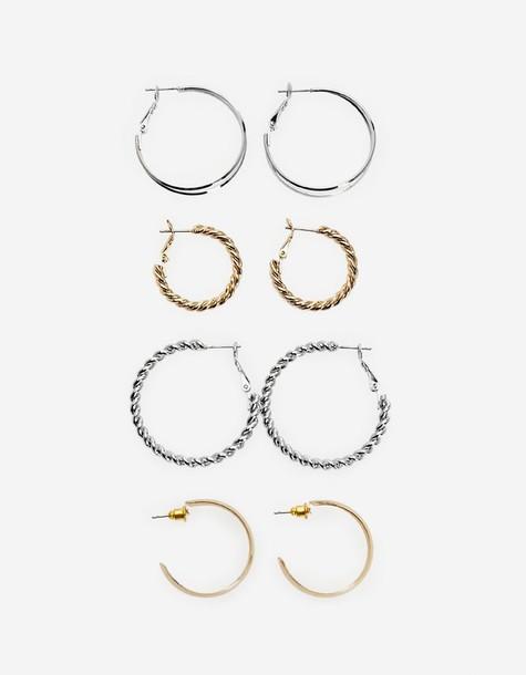 earrings hoop earrings yellow jewels