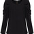 Black Long Sleeve Alice Shoulder Zipper Blouse - Sheinside.com