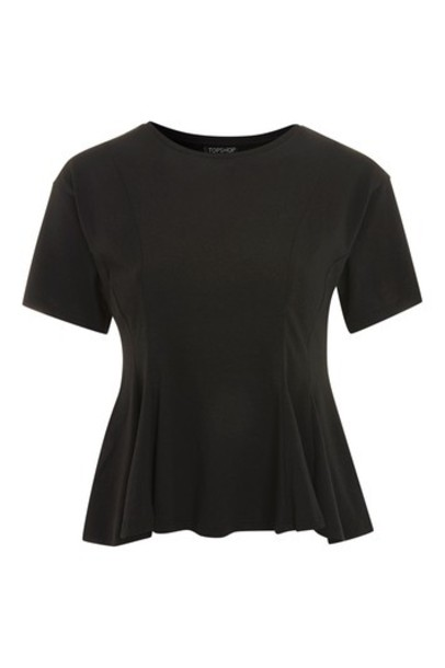 Topshop t-shirt shirt t-shirt black top