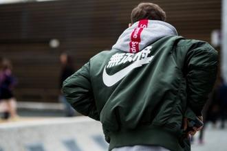 jacket nike supreme streetwear menswear bomber jacket