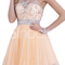 Buy top new rhinestoned light champagne a-line round neckline mini graduation dress/ homecoming dress/ prom dress under 300-sinoant.com