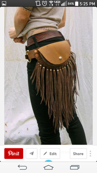 native american bag tassels