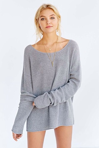 sweater knitted cardigan one teaspoon cocoon sweater grey sweater oversized sweater oversized cardigan grey oversized knit sweater