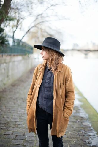 jacket jacket mustard mustard camel vintage mode ootd lookbook parka mustard parka outfit fedora mustard jacket camel jacket mustard coat mustard sweater fall outfits fall sweater winter sweater winter outfits witch coat oversized retro hipter suede brown light boho bohemian