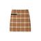 Tory burch plaid side-pocket skirt