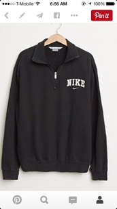jacket,nike pullover,shirt,nike sweater,sweater,black,nike,half zip,half zip up,nke,nike windbreaker,nike jacket,sweatshirt,vintage,pullover,nike zipper jacket,black sweater,zip,long sleeves