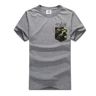 Camouflage-Pocket T-Shirt, Gray , M - MR.PARK | YESSTYLE