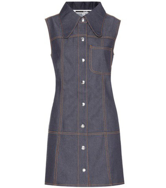 McQ Alexander McQueen dress mini dress denim mini blue