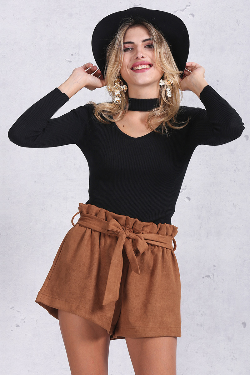 High-Waisted Suede Shorts – Dream Closet Couture