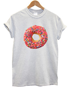 Pink Doughnut T Shirt Hipster Food Tumblr Swag Fresh OFWGKTA Top Men Women Girls | eBay