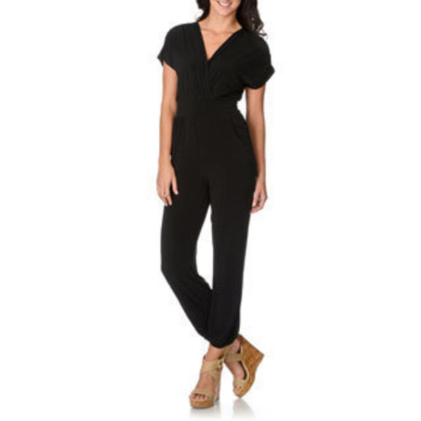 jumpsuit black long sleeves pockets