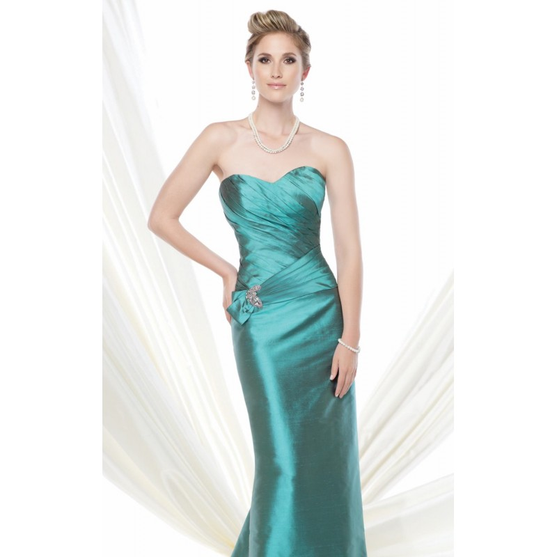 Beaded Pleated Gown by Ivonne D Exclusively for Mon Cheri 115D82 - Bonny Evening Dresses Online