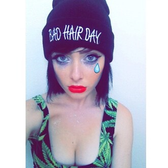 hat beanie cute dress cute kawaii it girl shop beautiful black beanie instagram