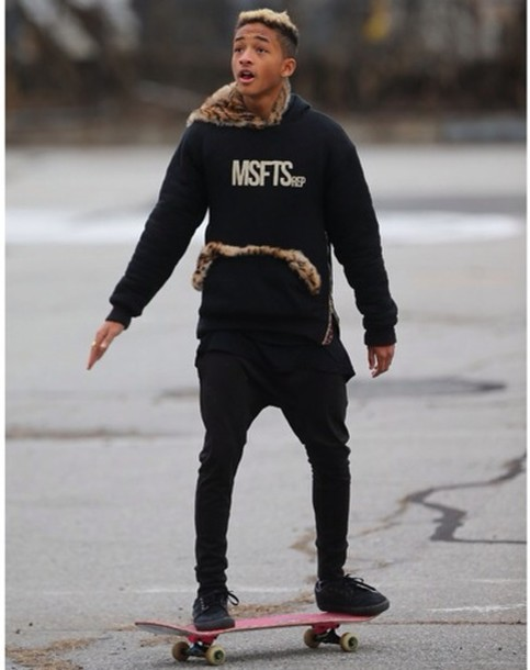 sweater jaden smith msfts rep red leopard print cheetah is the new black hoodie fur zip