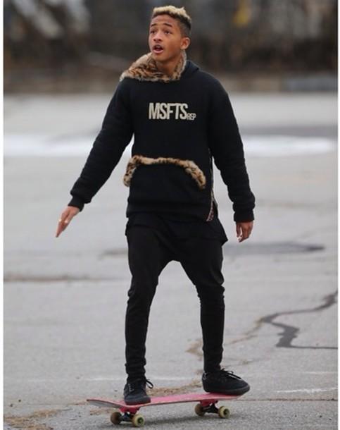 sweater jaden smith jaden smith msfts rep red leopard print cheetah is the new black hoodie fur zip inspire menswear
