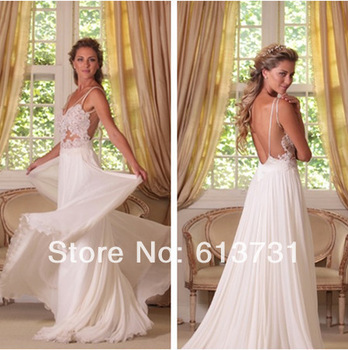 Aliexpress.com : buy wholesale   2013 sexy round neck backless sequins empire chiffon sheath wedding dresses with sleeves 13wd003 from reliable dress women suppliers on suzhou babyonline dress store