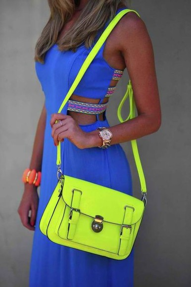 dress neon neon yellow
